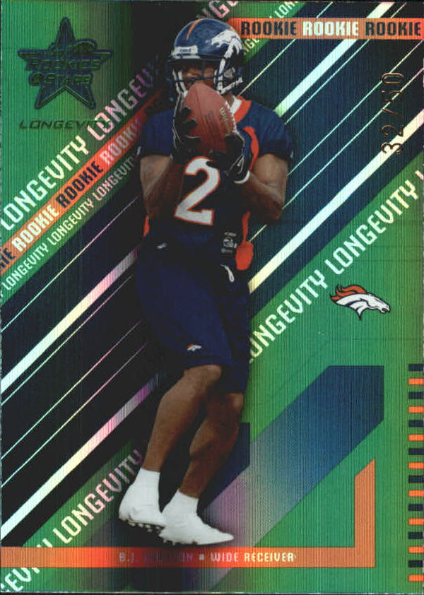 2004 Leaf Rookies and Stars Longevity Emerald #204 B.J. Johnson