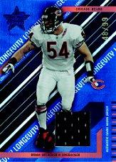 2004 Leaf Rookies and Stars Longevity Materials Sapphire #17 Brian Urlacher/99