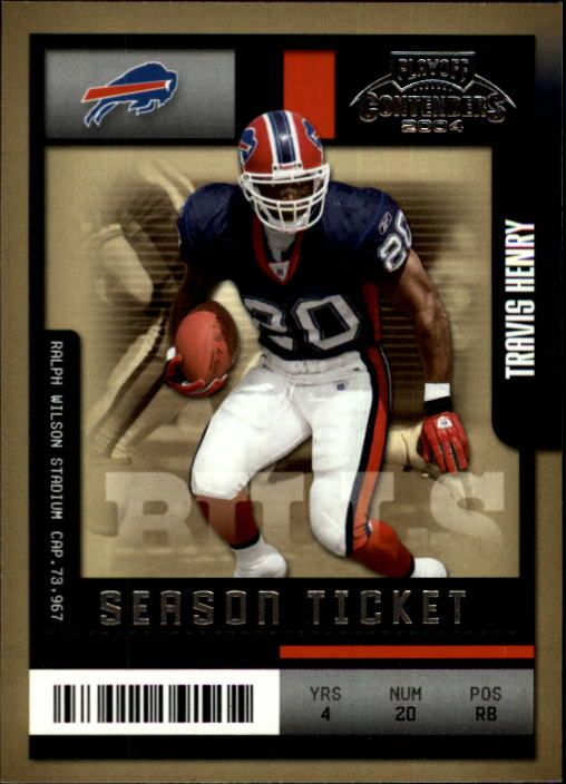 2004 Playoff Contenders #13 Travis Henry