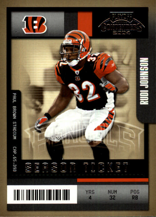 2004 Playoff Contenders #24 Rudi Johnson