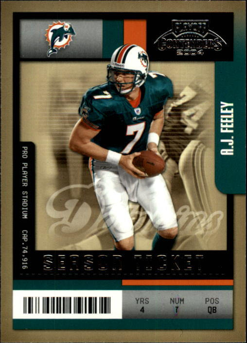 2004 Playoff Contenders #52 A.J. Feeley