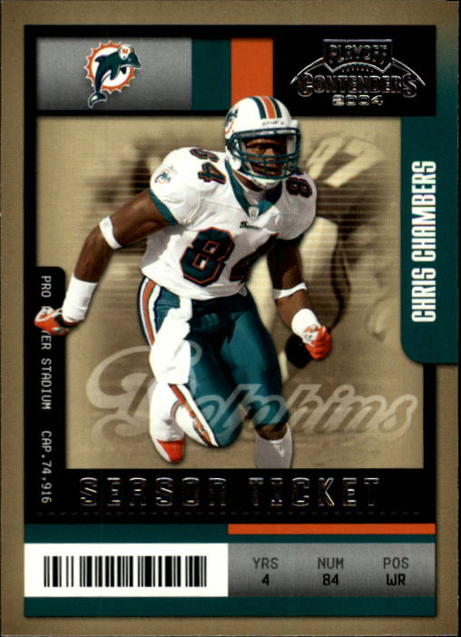 2004 Playoff Contenders #53 Chris Chambers