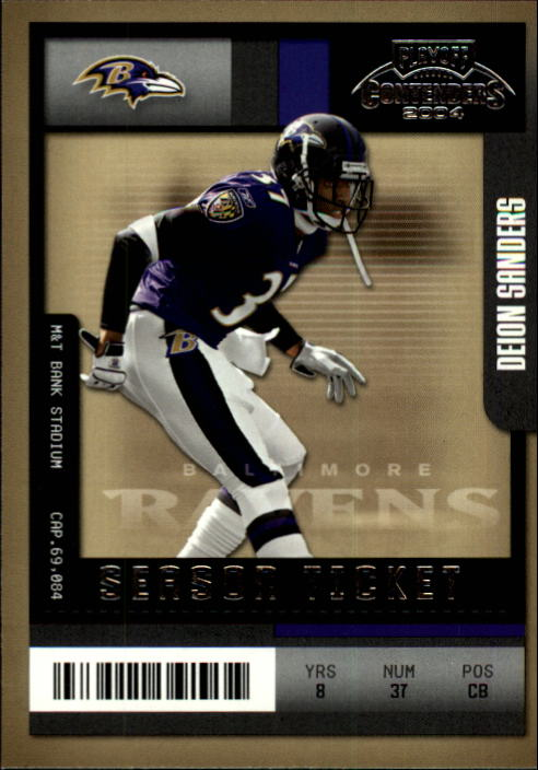 2004 Playoff Contenders #54 Deion Sanders
