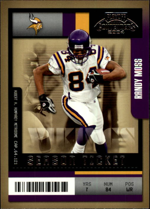 2004 Playoff Contenders #57 Randy Moss