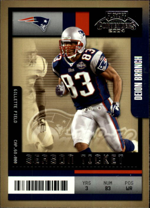 2004 Playoff Contenders #59 Deion Branch