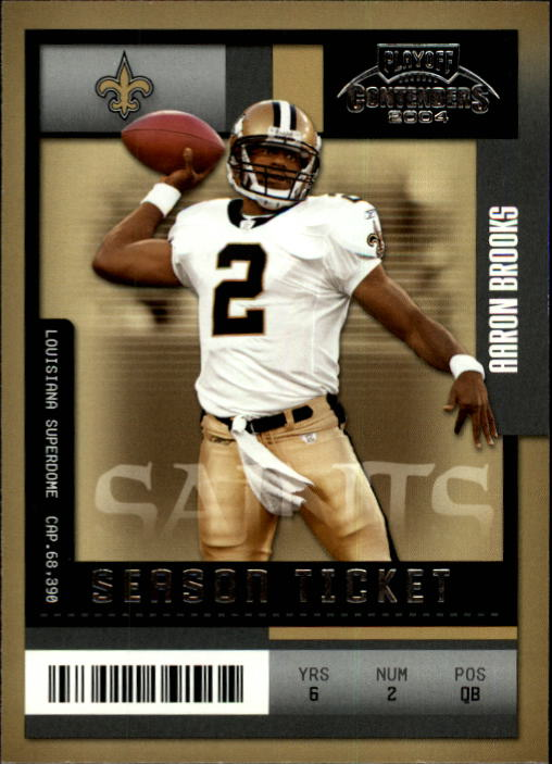 2004 Playoff Contenders #61 Aaron Brooks
