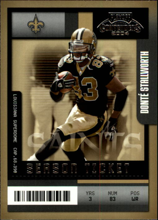 2004 Playoff Contenders #63 Donte Stallworth
