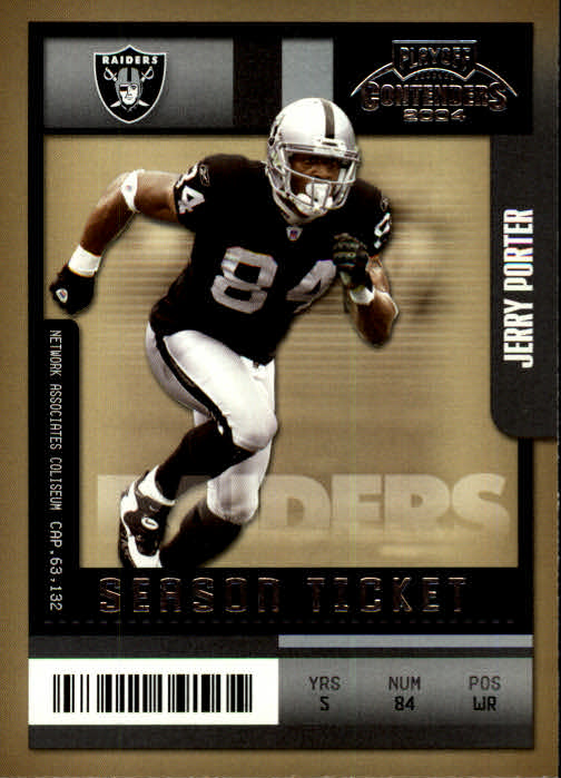 2004 Playoff Contenders #72 Jerry Porter