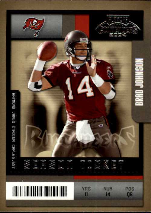 2004 Playoff Contenders #92 Brad Johnson