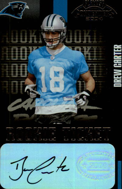 2004 Playoff Contenders #128 Drew Carter AU RC