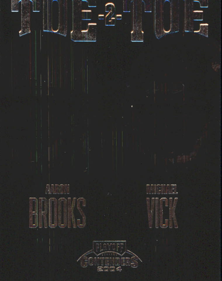 2004 Playoff Contenders Toe 2 Toe #TT11 Aaron Brooks/Michael Vick