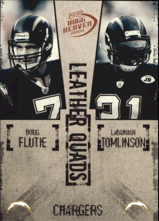 2004 Playoff Hogg Heaven Leather Quads #LQ17 Flutie/Tomlin/Brees/Bstn