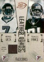 2004 Playoff Hogg Heaven Leather Quads Jerseys Single #LQ2 Michael Vick/Peerless Price/T.J. Duckett/Warrick Dunn