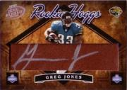2004 Playoff Hogg Heaven Rookie Hoggs Autographs #RH37 Greg Jones