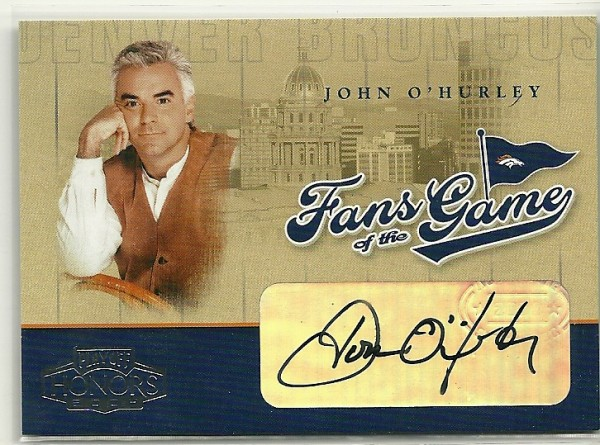 2004 Playoff Honors Fans of the Game Autographs #238 John O'Hurley
