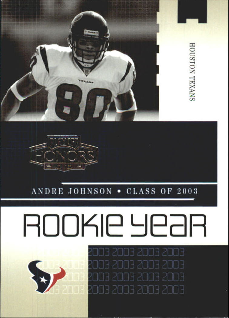 2004 Playoff Honors Rookie Year #RY15 Andre Johnson