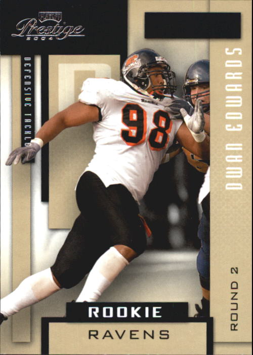2004 Playoff Prestige #187 Dwan Edwards RC