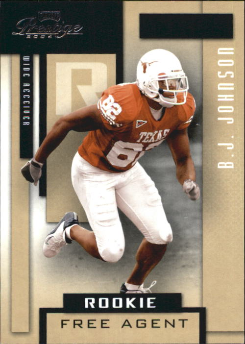 2004 Playoff Prestige #221 B.J. Johnson RC