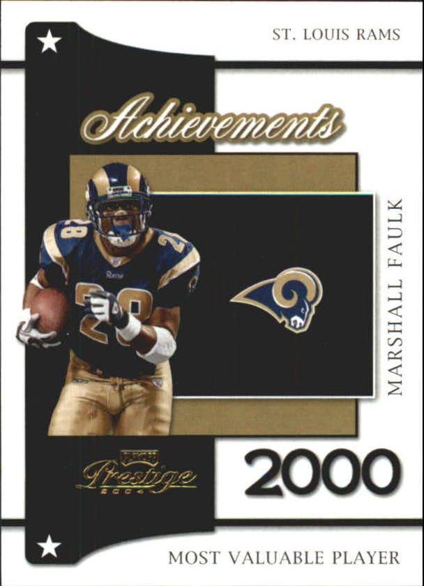 2004 Playoff Prestige Achievements #A10 Marshall Faulk