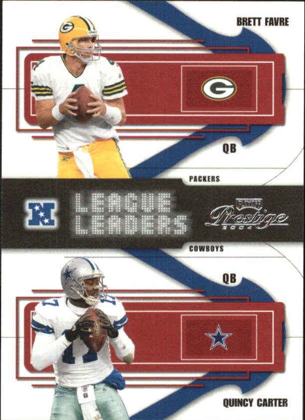 2004 Playoff Prestige League Leaders #LL3 Brett Favre/Quincy Carter
