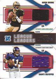 2004 Playoff Prestige League Leaders Jerseys #LL2 Aaron Brooks/Daunte Culpepper