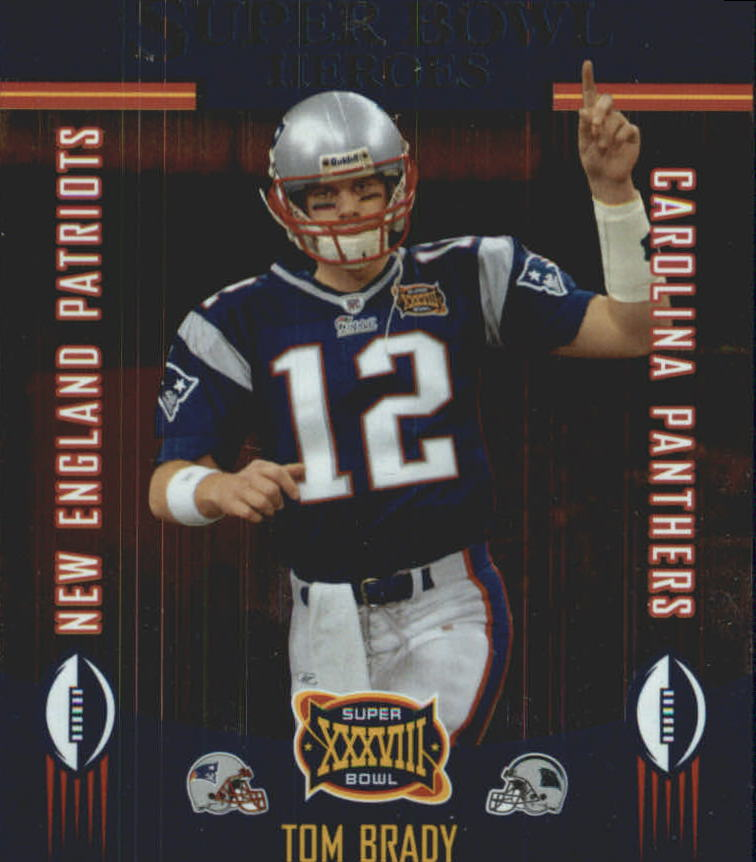 2004 Playoff Prestige Super Bowl Heroes #SB1 Tom Brady