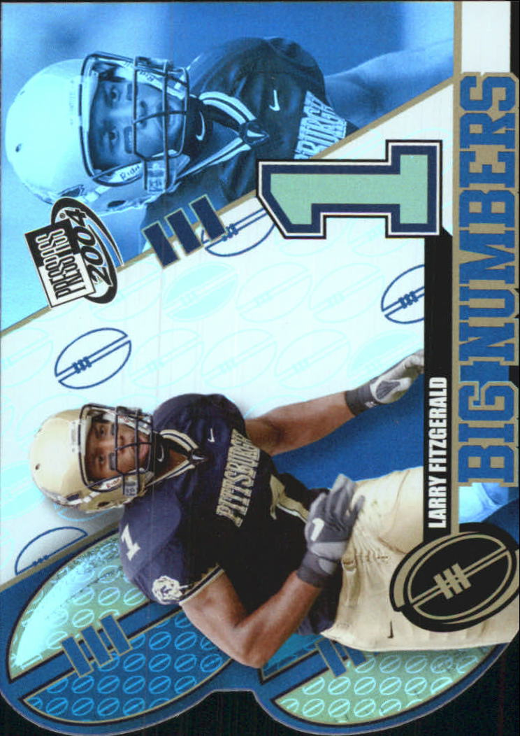 2004 Press Pass Big Numbers #BN6 Larry Fitzgerald