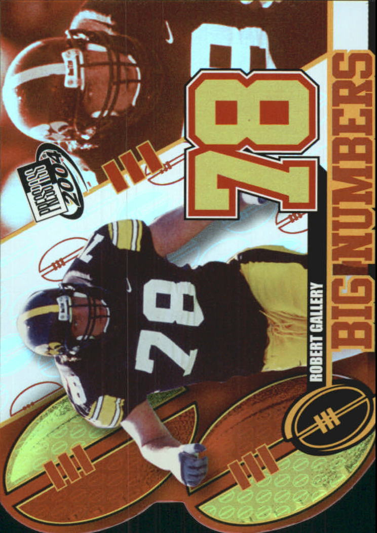 2004 Press Pass Big Numbers #BN7 Robert Gallery
