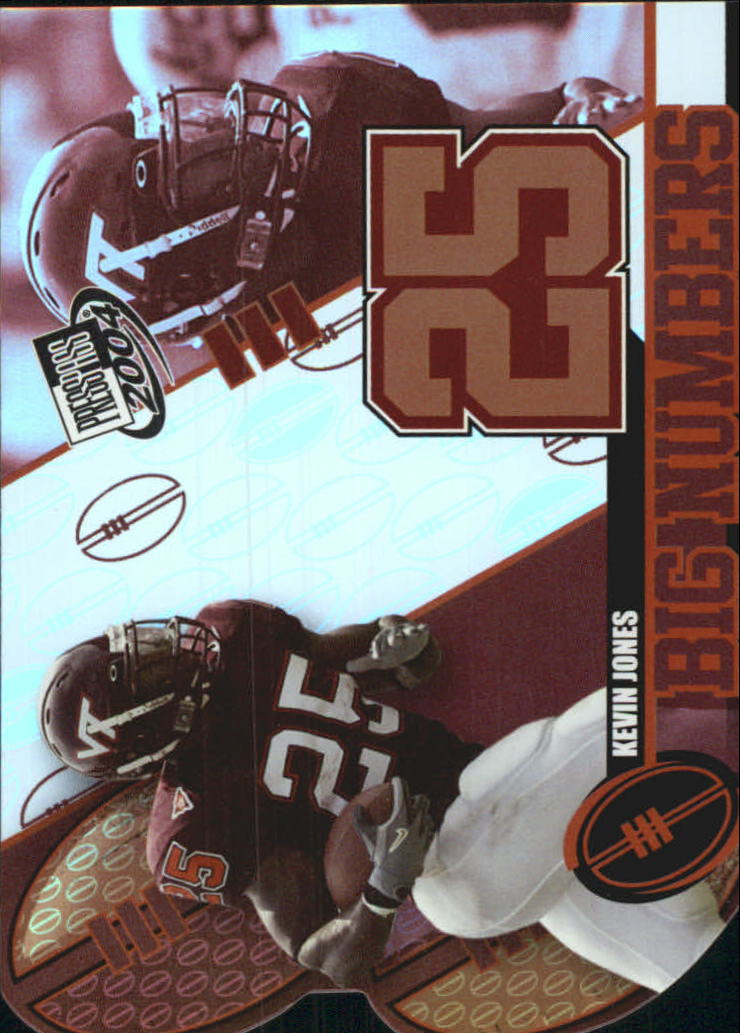 2004 Press Pass Big Numbers #BN12 Kevin Jones