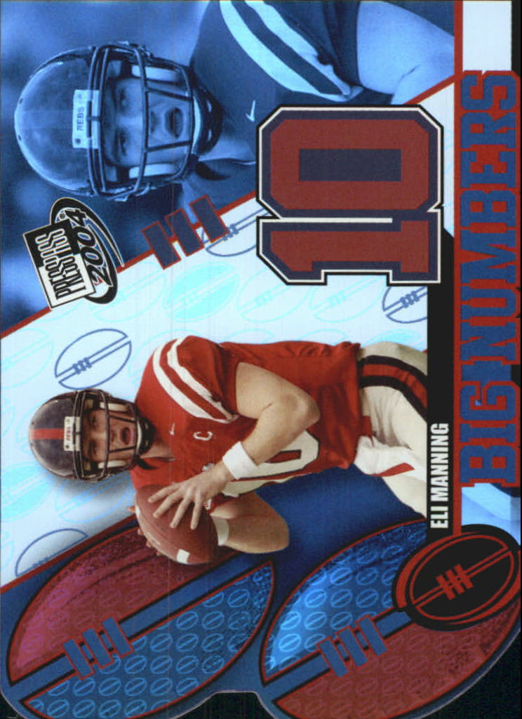 2004 Press Pass Big Numbers #BN15 Eli Manning