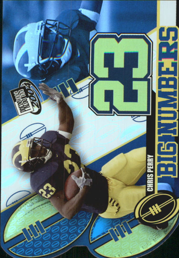 2004 Press Pass Big Numbers #BN18 Chris Perry