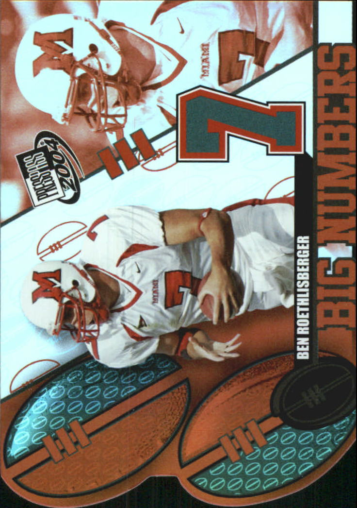 2004 Press Pass Big Numbers #BN21 Ben Roethlisberger