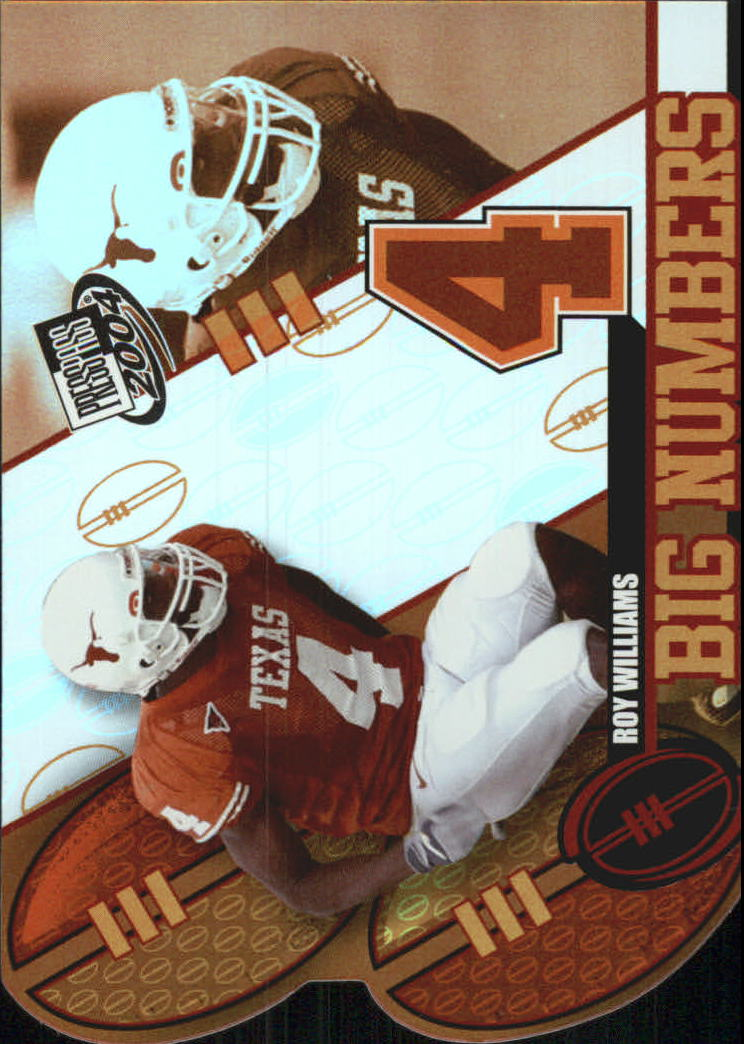 2004 Press Pass Big Numbers #BN31 Roy Williams WR