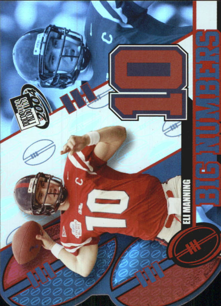 2004 Press Pass Big Numbers #BN33 Eli Manning CL