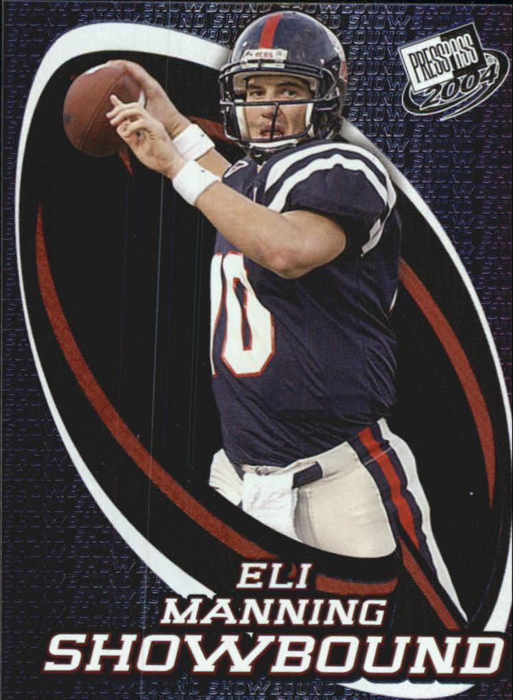 2004 Press Pass Showbound #SB3 Eli Manning