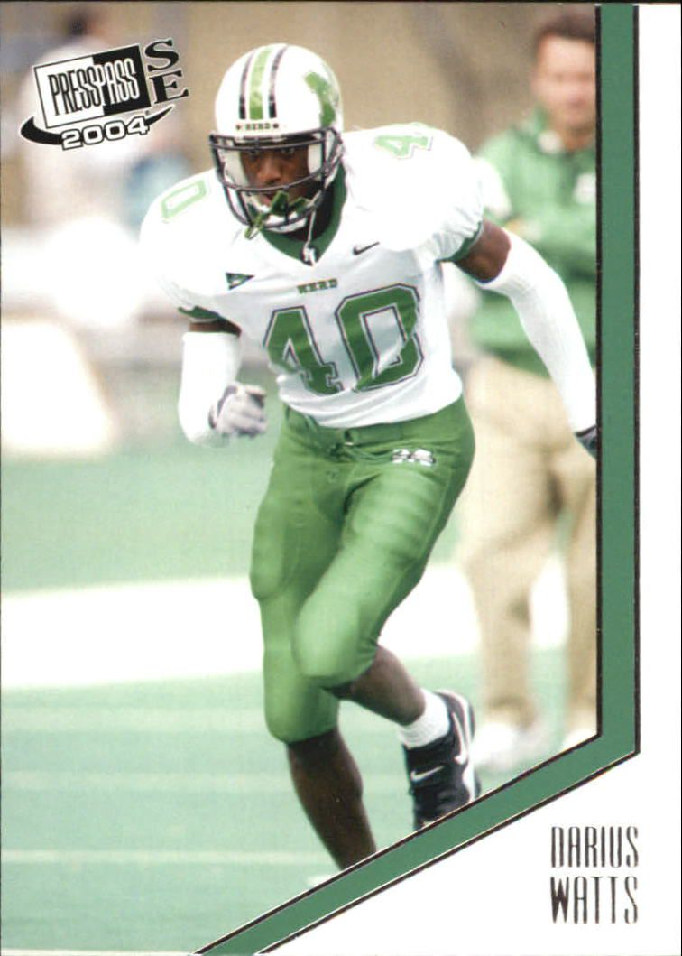 2004 Press Pass SE #32 Darius Watts