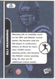 2004 Press Pass SE Old School #OS3 Eli Manning back image