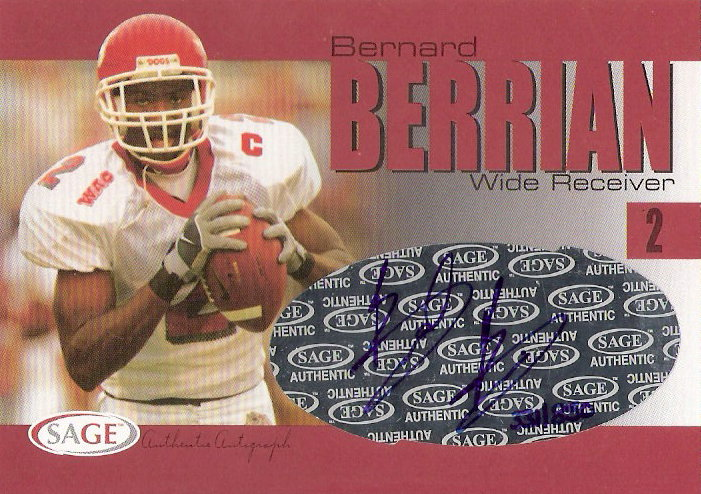 2004 SAGE Autographs Red #A2 Bernard Berrian/850
