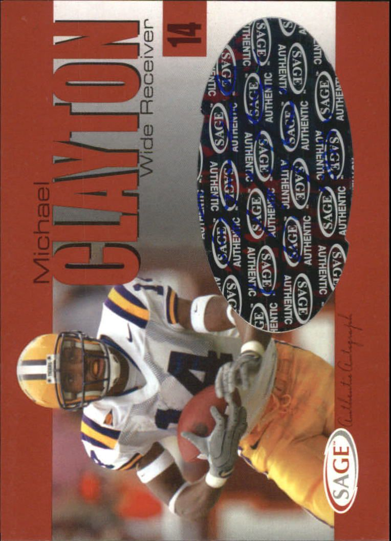 2004 SAGE Autographs Red #A7 Michael Clayton/970
