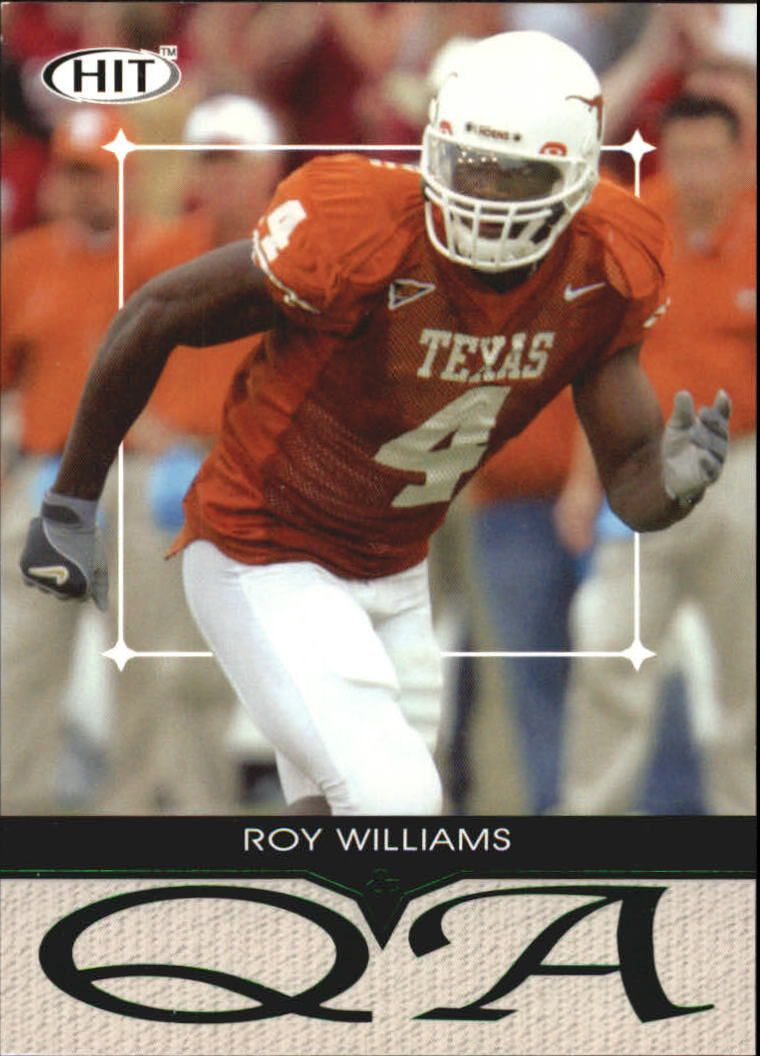 2004 SAGE HIT Q&A Emerald #Q4 Roy Williams WR
