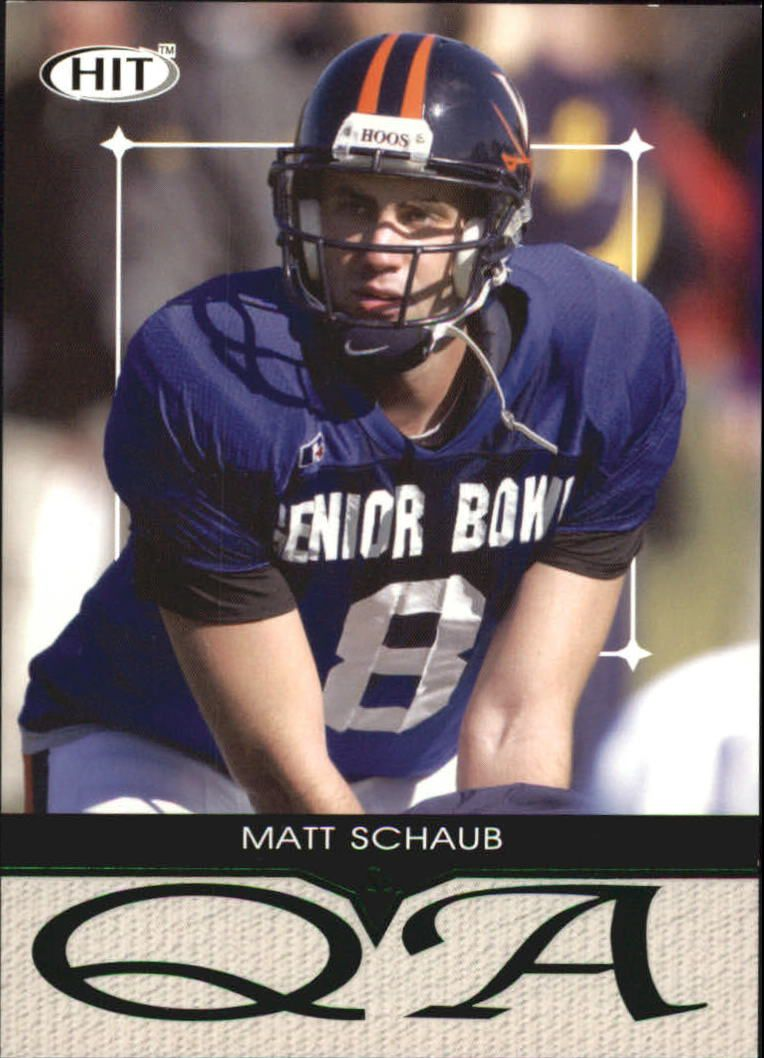 2004 SAGE HIT Q&A Emerald #Q35 Matt Schaub