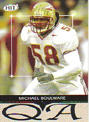 2004 SAGE HIT Q&A Silver #Q26 Michael Boulware
