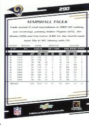 2004 Score #290 Marshall Faulk back image