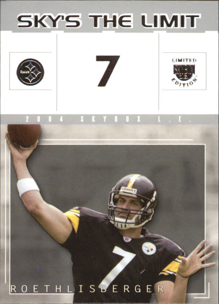 2004 SkyBox LE Sky's the Limit #7SL Ben Roethlisberger