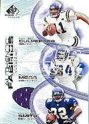 2004 SP Game Used Edition Authentic Fabric Triples #CMS Culpep/R.Moss/O.Smith