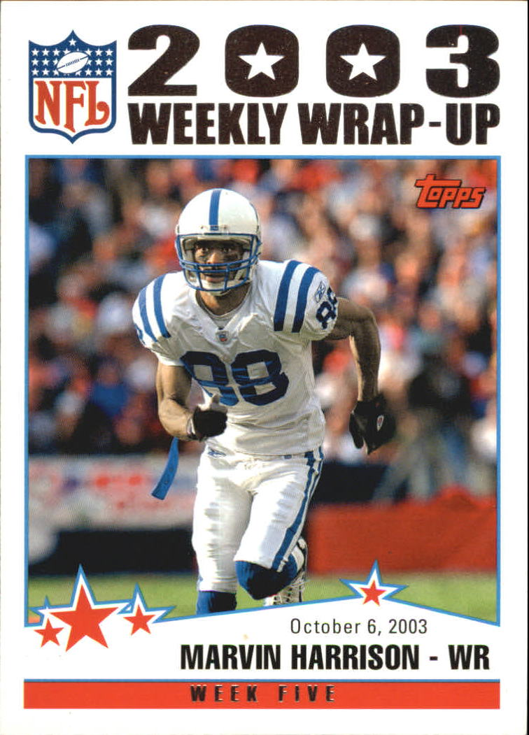 2004 Topps #295 Marvin Harrison WW