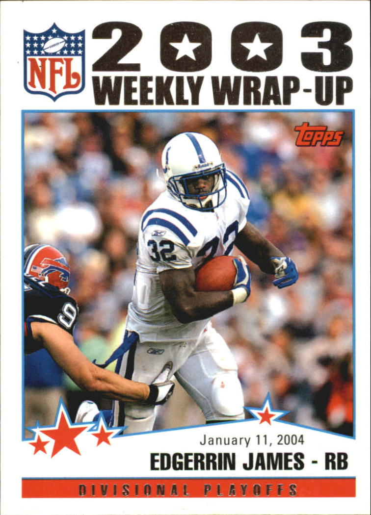 2004 Topps #309 Edgerrin James WW