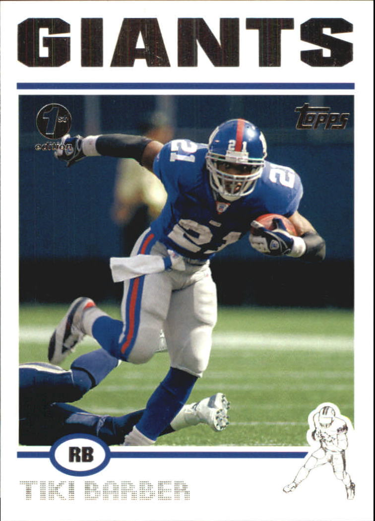2004 Topps First Edition #273 Tiki Barber