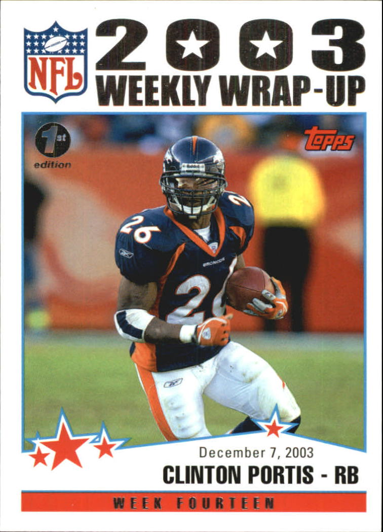 2004 Topps First Edition #304 Clinton Portis WW