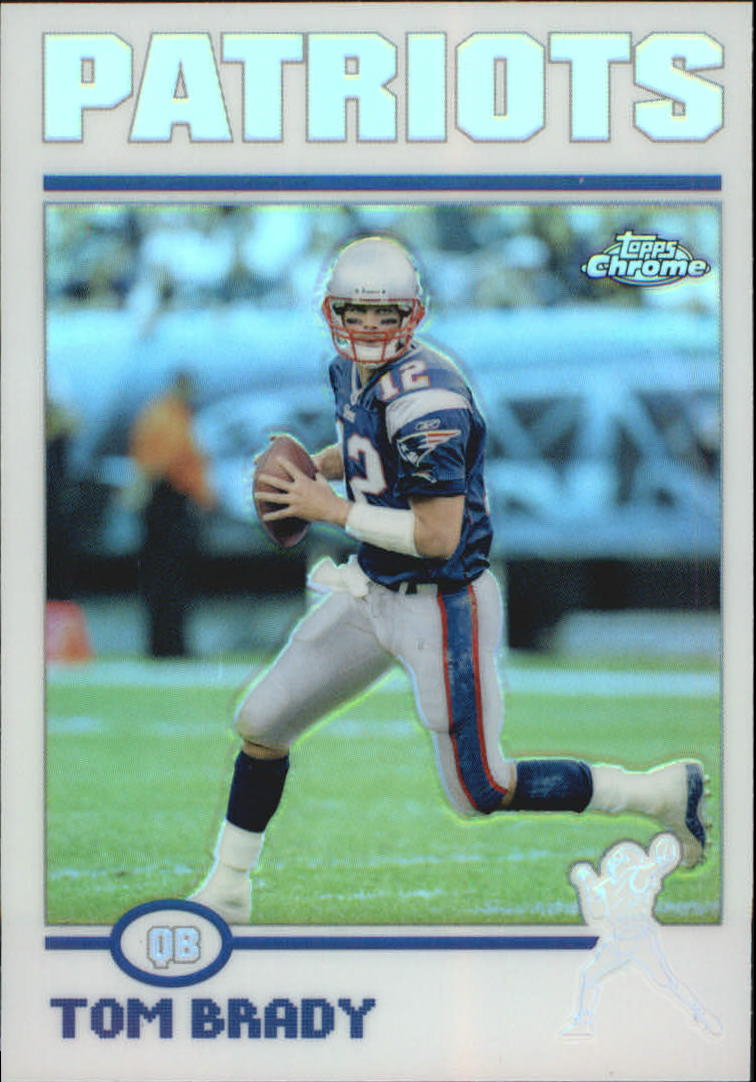 2004 Topps Chrome Refractors #125 Tom Brady